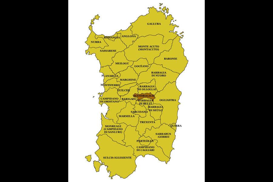 Cartina Sardegna Tonara.Sardegna Regioni Storiche