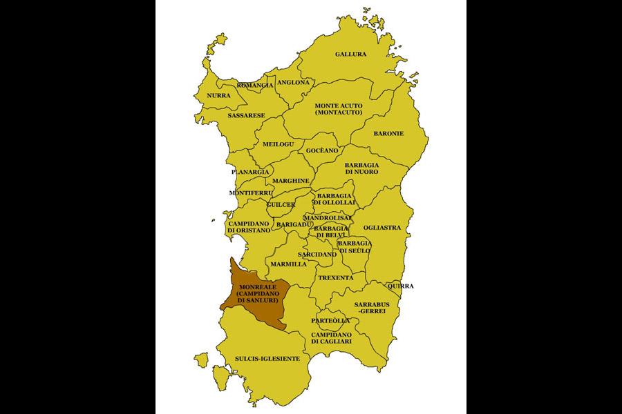 Cartina Sardegna Oristano.Sardegna Regioni Storiche