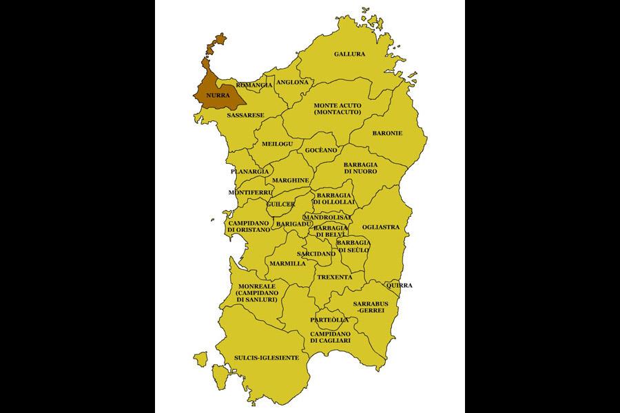 Stintino Cartina Geografica.Sardegna Regioni Storiche