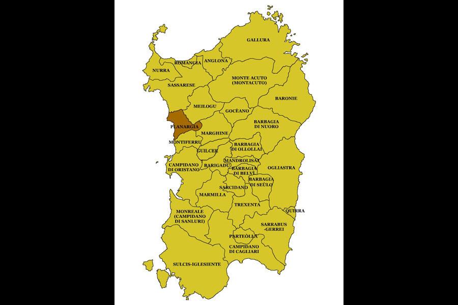 Cartina Sardegna Tharros.Sardegna Regioni Storiche