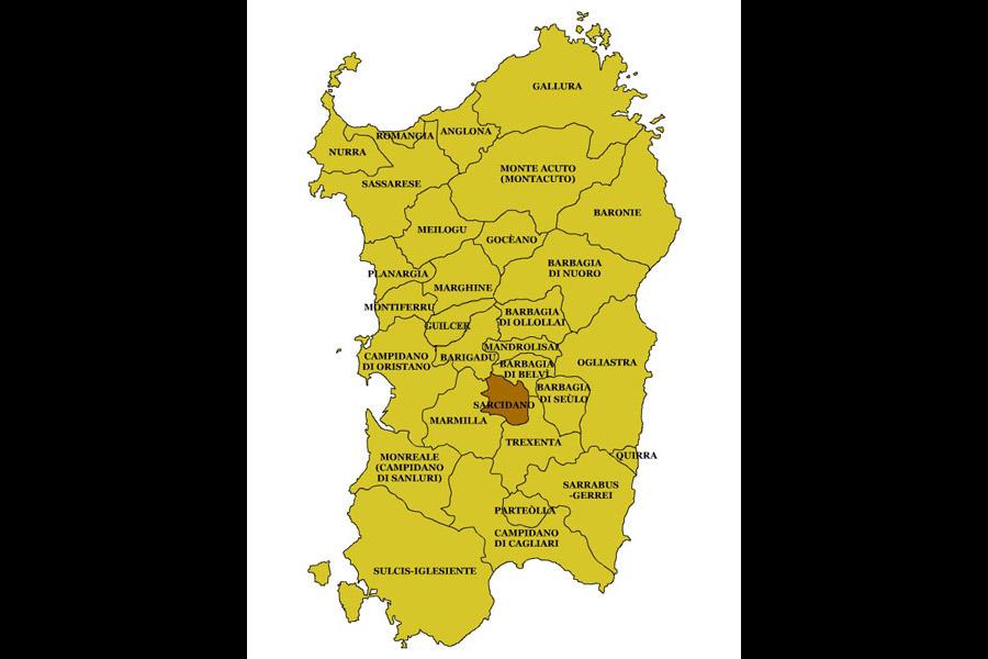Cartina Sardegna Nurri.Nurri