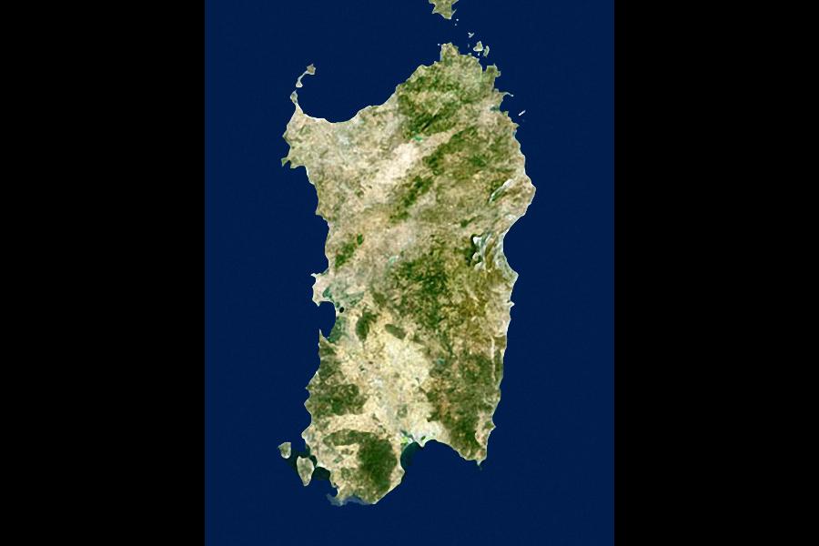 Cartina Montuosa Sardegna.Sardegna Territorio E Coste