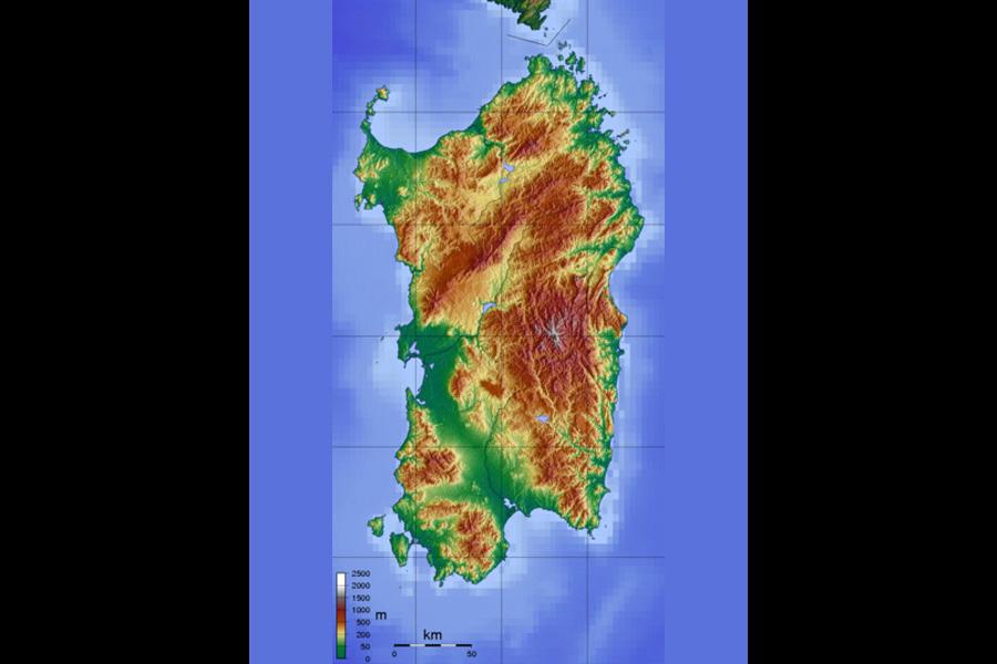 Cartina Sardegna Centro Ovest.Sardegna Territorio E Coste